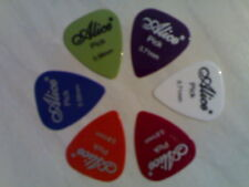 6 x Alice Brand Guitar Picks Plectrums For Accoustic & Electric Guitar (3 Sizes)