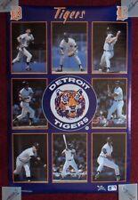 Vintage 1987 Starline Detroit Tigers Baseball Poster ~ Trammell, Morris, Gibson