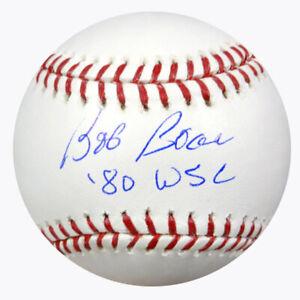 "BOB BOONE AUTOGRAPHED SIGNED MLB BASEBALL PHILLIES ""80 WSC"" PSA/DNA 64819"