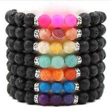 7Chakra Bracelet Sport Healing Beaded Agate Lava Stones Bracelet Natural Elastic