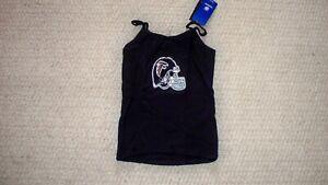 Women's Black Spaghetti Top NFL Atlanta Falcons Helmet w/Glitter L Reebok NWT!