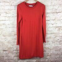 Trina Turk Womens Bellingham Long Sleeve Rally Red Dress Size Medium