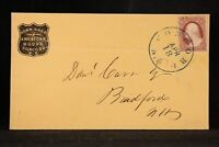 New Hampshire: Concord 1850s John Glass American House CAMEO Advertising Cover
