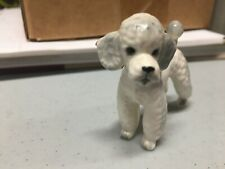 New ListingVintage Josef Originals White Poodle Porcelain Bisque Dog Figurine, Figure