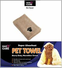 Super Absorbent Quick Drying Microfibre  Pet Dog Towel 90cm x 60cm by MAXCARE