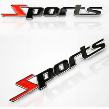 3D Sports Word letter Chrome Metal Car Sticker Emblem Badge Decal Auto Decor CN