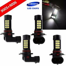 Combo 9006-HB4 9005-HB3 Samsung LED 42 SMD White Headlight Light Bulb Hi/Lo Beam