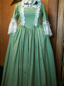 Beautiful Colonial Dress with Mob Cap