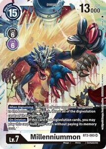 Millenniummon Digimon Card Game BT2-083 Super Rare - Boosterfrisch EN