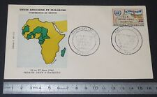 ENVELOPPE 1er JOUR PHILATELIE 1962 BANGUI 25/03 REPUBLIQUE CENTRAFRICAINE