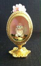 Vintage Beautiful Angel in Gold Egg Stand Floral Figurine Collectible