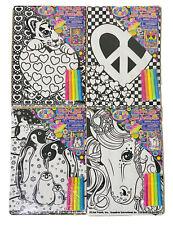 Lot Of 4 Lisa Frank Velvet Art Posters with Mini Markers