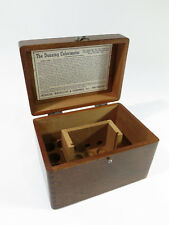 Restored Antique Solid Mahogany Dunning Colorimeter Renal Test Kit Storage Box