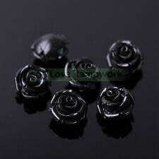 Wholesale 10/30pcs 12mm Coral Resin Rose Spacer Loose Beads Lot Jewelry Making