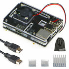EEEKit for Raspberry Pi 3 Model B Clear Enclosure Case + Cooling Fan+HDMI Cable