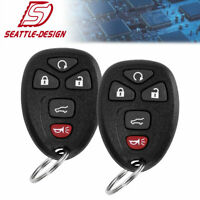 2 For Buick Enclave 2008 2009 2010 2011 2012 Keyless Entry Remote Car Key Fob