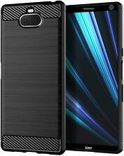 For Sony Xperia 10 Plus Case TPU Shock Absorption Full Protective Cover Black