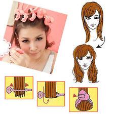 6Pcs Magic Hair Salon Care Roller Sponge Foam Curlers DIY Pink Beauty Lady Maker