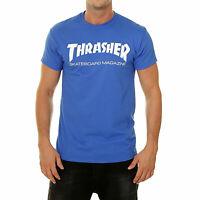 Thrasher Men's Skate Mag Short Sleeve T Shirt Royal Blue Clothing Apparel Ska...