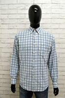 Camicia Uomo VALENTINO JEANS Taglia 39 Shirt Maglia Manica Lunga Cotone Quadri
