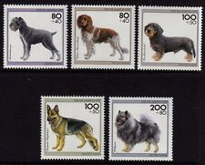 Germany 1995 Charity Stamps - Dogs SG 2640-2644 MNH