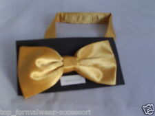 NEON Yellow Polyester GOLD Ready Pre-tied Bow tie >> Over 60 colours in our SHOP