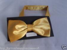 Oro Amarillo neón Poliéster Listo Pre-Atado Pajarita >> más de 60 colores en nuestra tienda