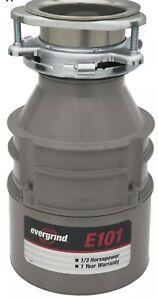 Insinkerator E101 1/3 Hp Garbage Disposer New