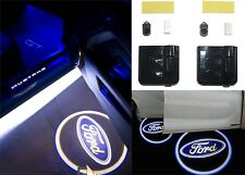 PAIR Ford Logo Door LED Projector Shadow Kit Wireless Stick On New Free Shipping