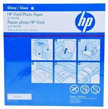 """HP Vivid papier photo glacé 8,25 x8.5 """" 220 feuilles papier glacé jet d'encre"""