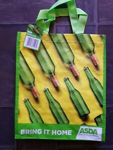 Asda Reusable 6 WINE BOTTLES CARRIER BAG (1 Supplied - Holds six) NEW FREE P&P