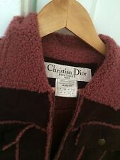 John Galliano Christian Dior Vintage Teal Shearling wrap Asymmetric Skirt Jacket