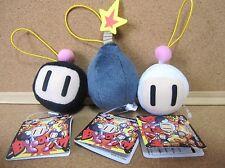 Bomberman Face mascot Stuffed toy Plush doll Figure w/tag Prize Set of 3