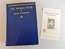 The World Over ~ Edith Wharton, 1936 D. Appleton-Century 1st Printing