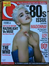 Q magazine Aug 2006 MADONNA U2 Boy George Status Quo The Who Primal Scream 80s