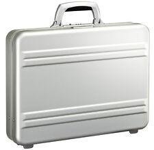 """Zero Halliburton Slimline Collection 3"""" Slim Attache Briefcase - Silver"""