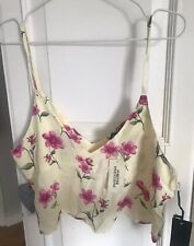 NEW Forever 21 Yellow Floral Crop Cami Top BNWT Large