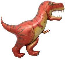"""Dinosaur Dino T-REX Tyrannosaurus Rex Orange 47"""" Birthday PARTY Mylar BALLOON"""