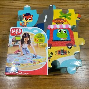 New Sealed Land of B. Whimsy Land Foam Floor Puzzle 12 Peice