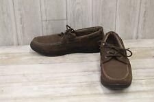 Nunn Bush Schooner Moc Toe Leather Boat Shoes, Men's Size 11M, Dark Brown