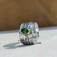 Rainbow Moonstone Ring 925 Sterling Silver Spinner Ring Meditation Ring A510
