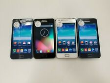 Lot of 4 Samsung Galaxy S2 I9100 GSM Unlocked Check IMEI Fair Condition RJ-596