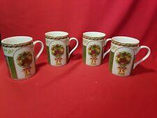 Royal Albert Old Country Roses Seasons Of Colour Coffee Mugs X 4 NIB