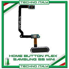 HOME BUTTON FLEX CABLE PULSANTE TASTO per Samsung Galaxy S5 Mini G800F NERO FLAT
