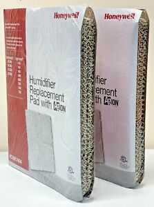 """TWO Honeywell HC26E1004 Replacement Humidifier Pads with AgION Coating 10"""" x 13"""""""