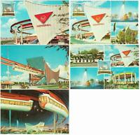 Monorail at New York World's Fair 1964 Lot of 5 Postcards