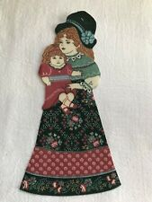 "Victorian Courtship Doll - 1 - Iron-On Fabric Appliques.. 6 1/2"" Tall.  (A)"