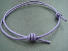 2mm purple leather cord thong adjustable anklet surf hippy beach