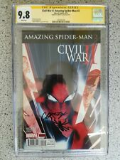 CIVIL WAR II AMAZING SPIDER-MAN #2 MAIN COVER 1ST PRINT CGC SS 9.8 SIGN BY GAGE