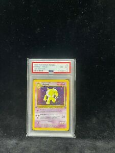 1999 Pokemon Fossil Holo 1st Edition 8/62 Hypno - PSA 8